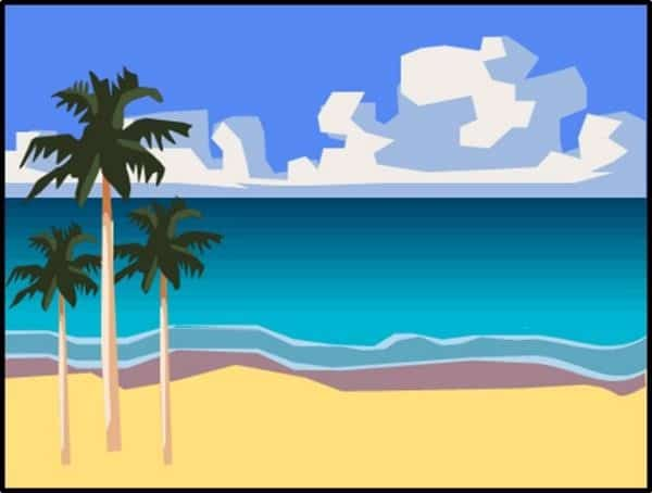 PowerPoint Vector Graphic Animation Step #7 - Group and Place the Palm Trees