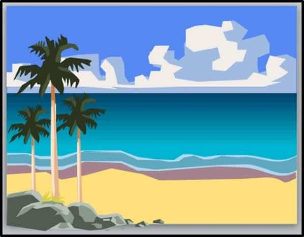 PowerPoint Vector Graphic Animation Step #8B - Group and Place the Rocks