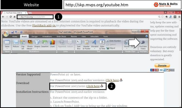 Embed YouTube PowerPoint 2007 - Installing the Addin #1 - Downlaod the Addin
