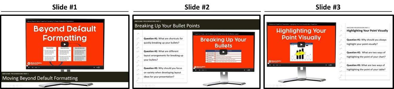 """Embedded YouTube Video Three Slide PowerPoint Sequence"""