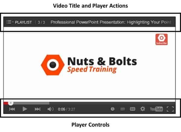 """Embedding YouTube PowerPoint 2013 Embed Code Step #3B - With both formatting options selected"""