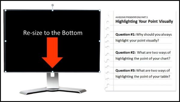 """Embedding YouTube PowerPoint 2013 Embed Code Step #4E - Resize the video"""