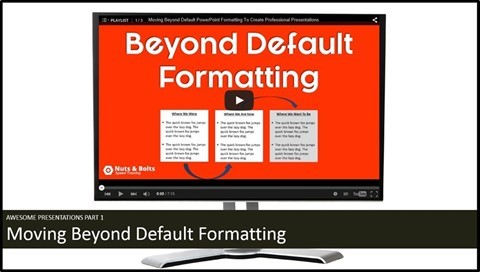 """Embedding YouTube PowerPoint 2013 - Intro #1 - Example slide 1"""