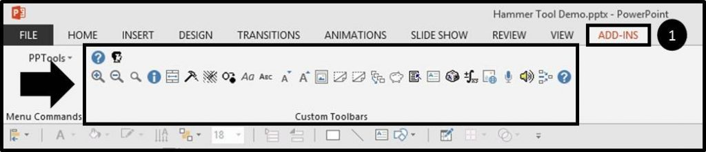 Hammer-Tool-Installation-Part-2-Step-3-see-the-add-in-in-PowerPoint
