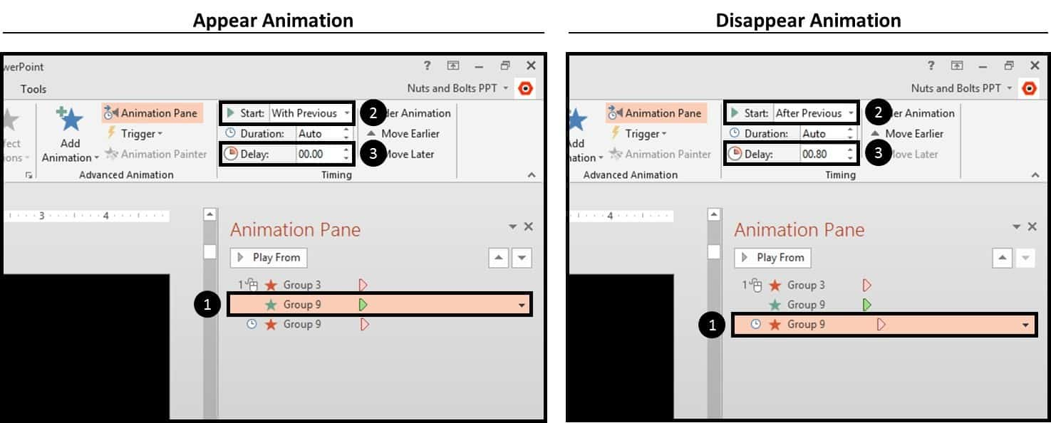 """PowerPoint Animation Hinge Effect Part 3I - Layer the animations"""