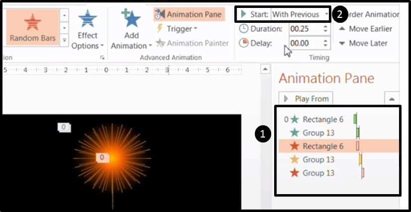Adv Animation Firework P3S9 - set the animations to start with previous