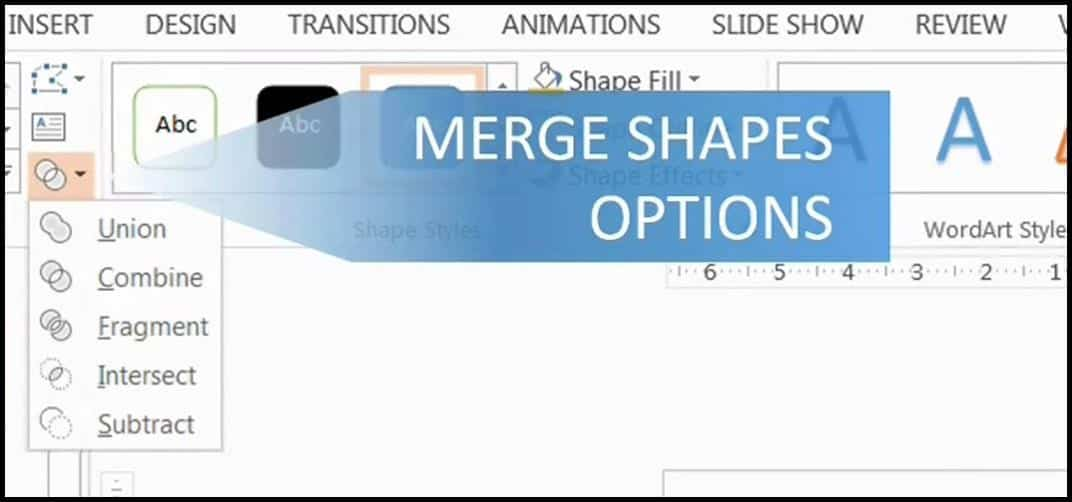 PowerPoint 2013 Upgrade #5 - Merge Shapes Tool