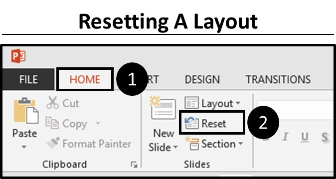 Outline View - Resetting Your Slide Layout