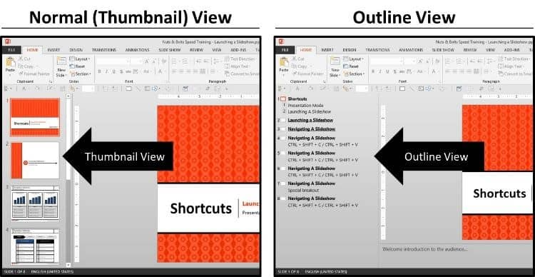 Outline View in PowerPoint - 2 Different Views