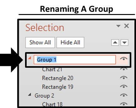 Renaming Groups - Step 3 - Rename the Groups