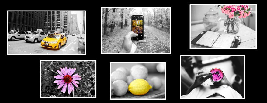 Black and white and colored photos #1