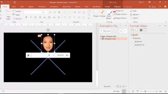 powerpoint-hologram-13-arrange-the-video-above