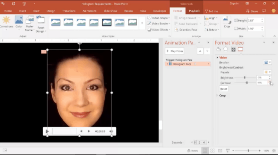 powerpoint-hologram-7-adjust-the-video-brightness