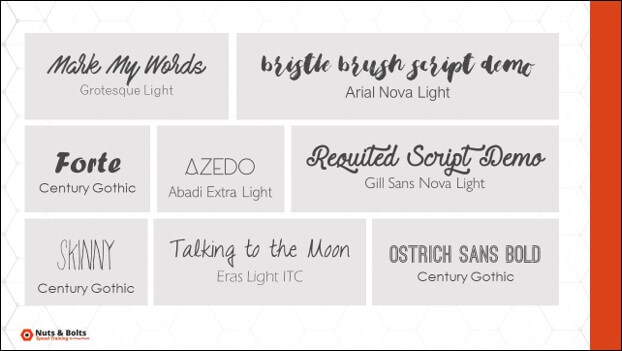 Examples of cool handwritten letter fonts and modern fonts