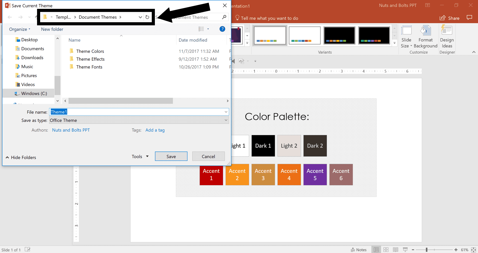 How to create a custom powerpoint theme nuts bolts speed training in toneelgroepblik
