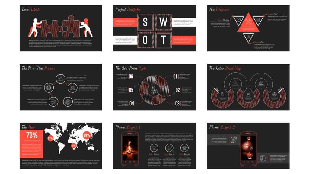 More slide examples from SlideCow's business casual template
