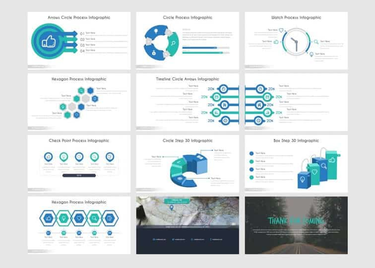 More slide examples from the corporate template by inspiradesign