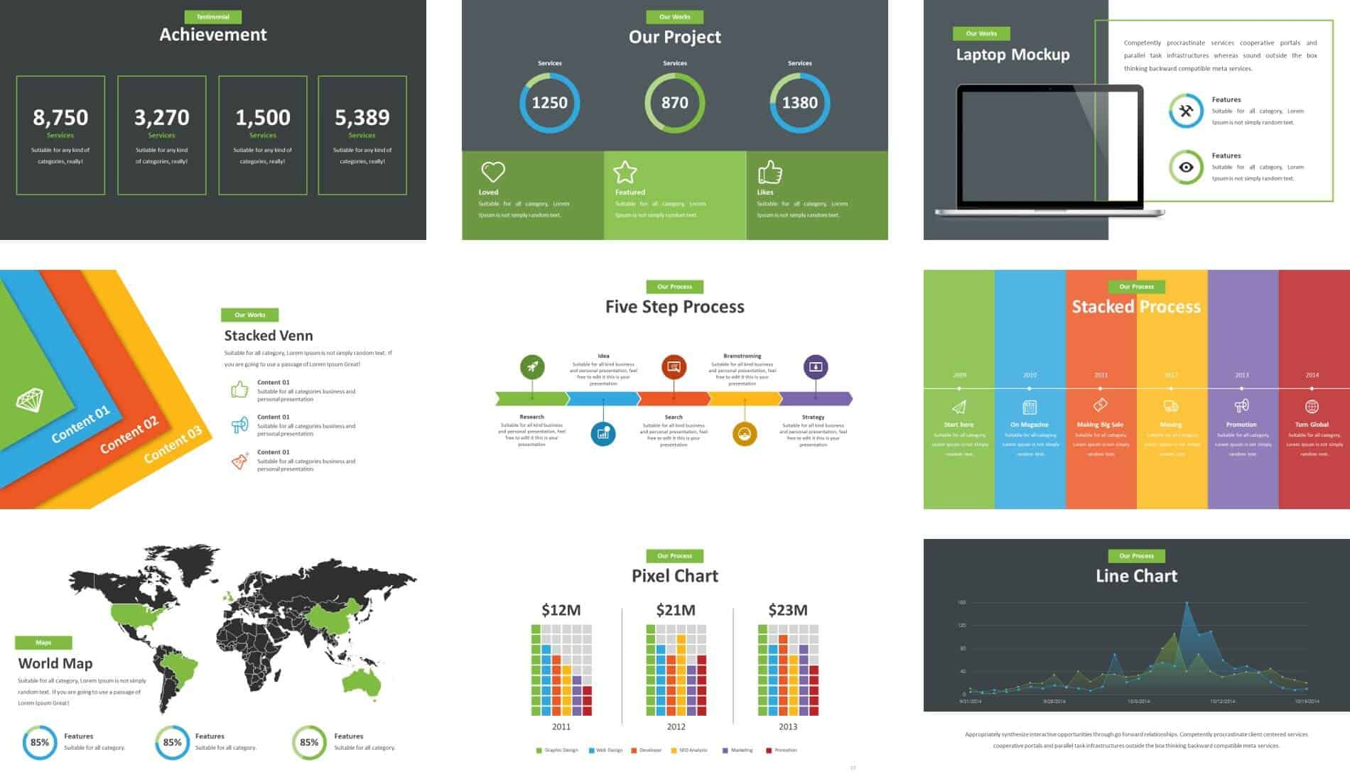 Powerpoint Template Review  Unleash By Inspiradesign