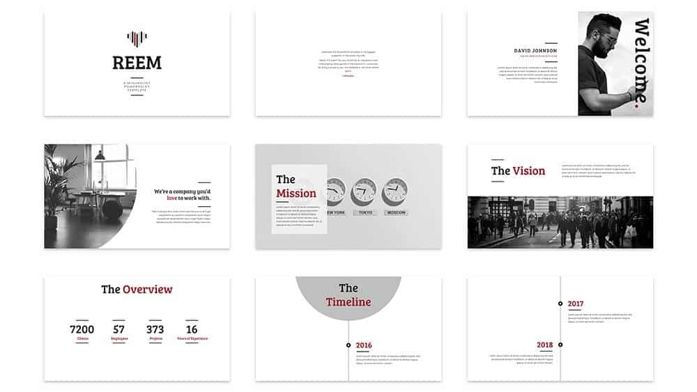Example 1 of the slides in the Reem PowerPoint template by SlideCow