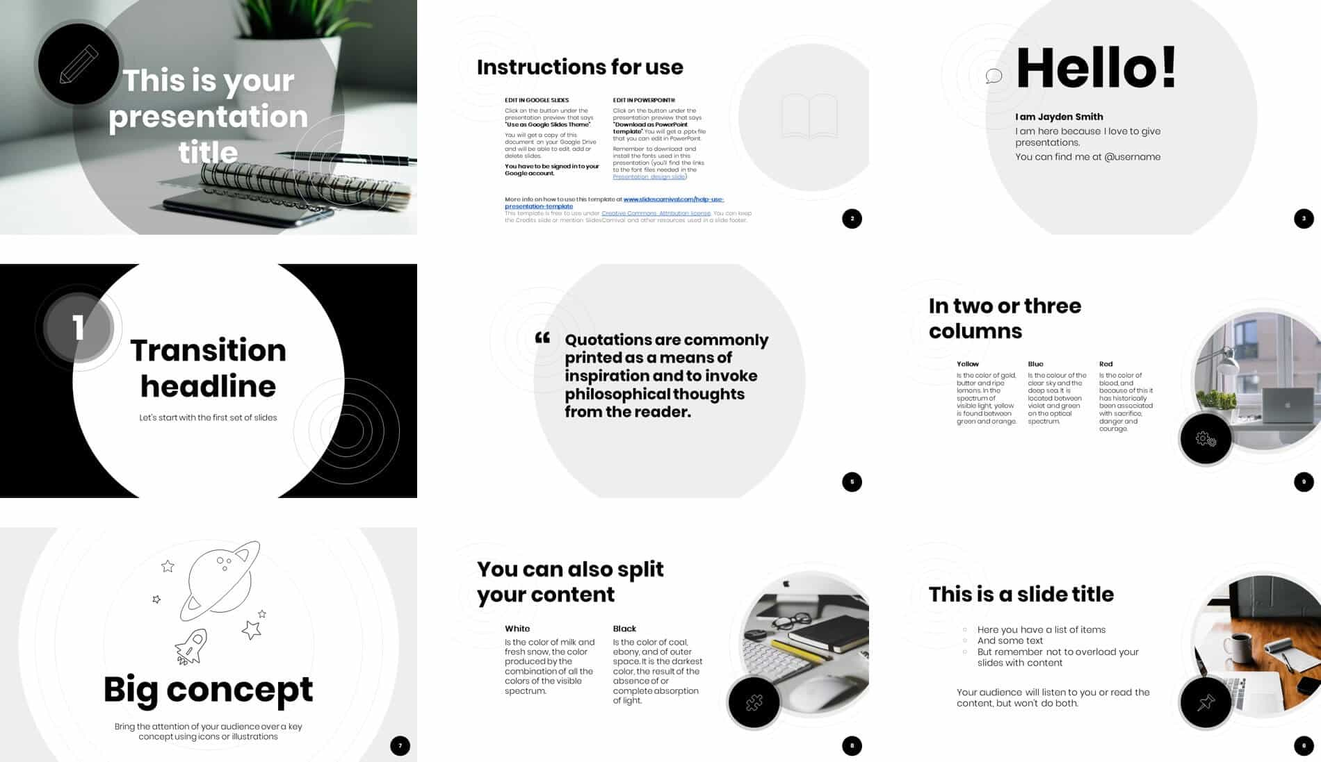 Slidescarnival Review The Free Cymbeline Powerpoint Template Nuts