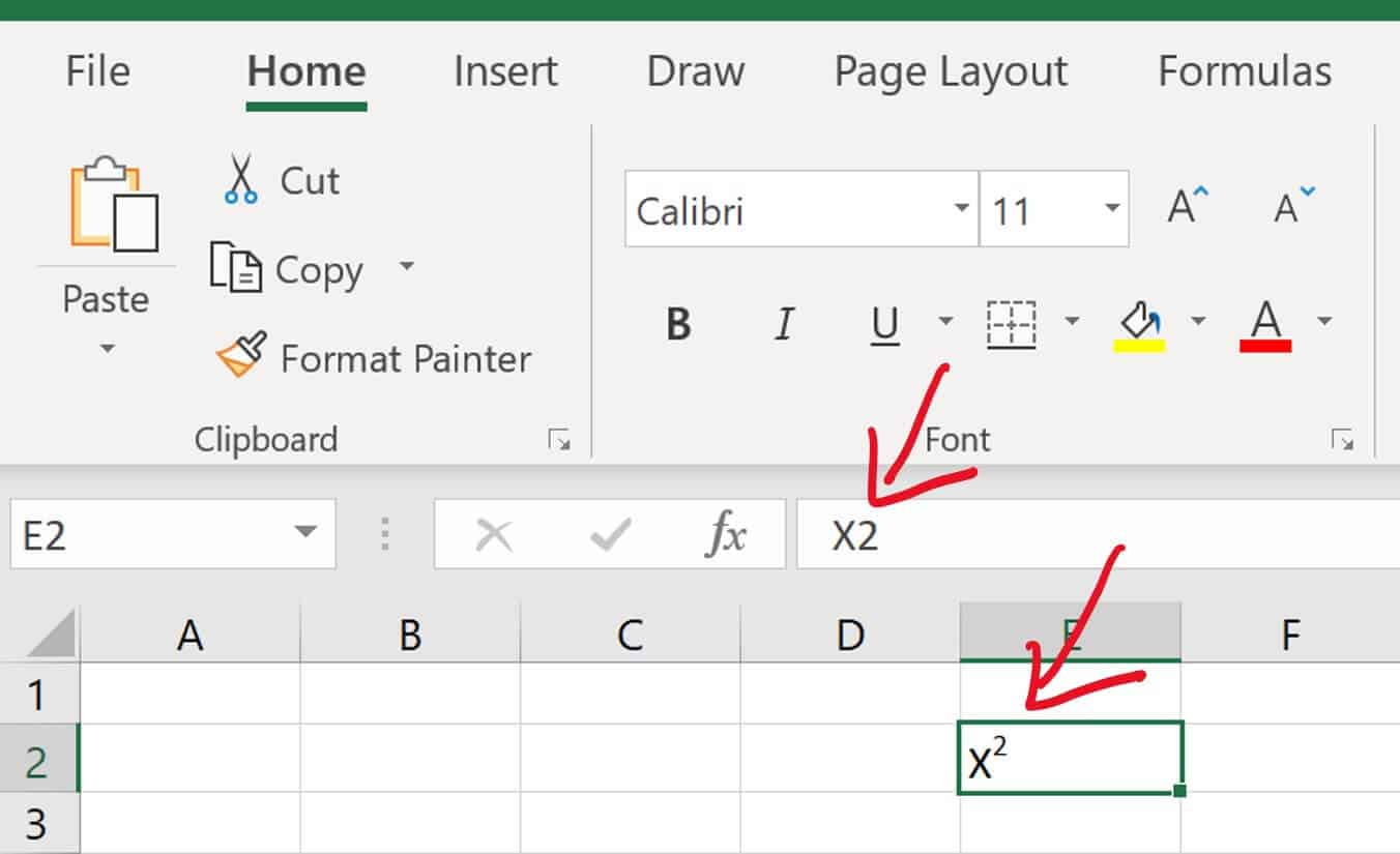 Superscripts and subscripts will only be properly displayed within the cells of your spreadsheet, and not the formula box