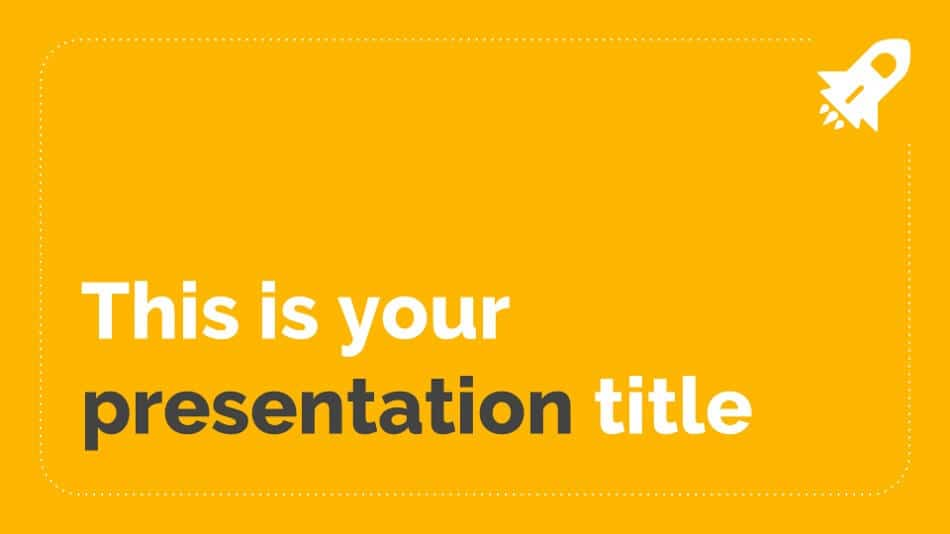 The title slide of the Olivia PowerPoint template