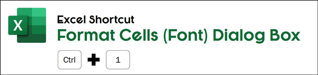 Hit control plus one to open the format cells dialog box in Excel