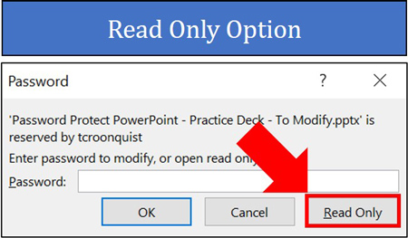 Read Only Option in PowerPoint