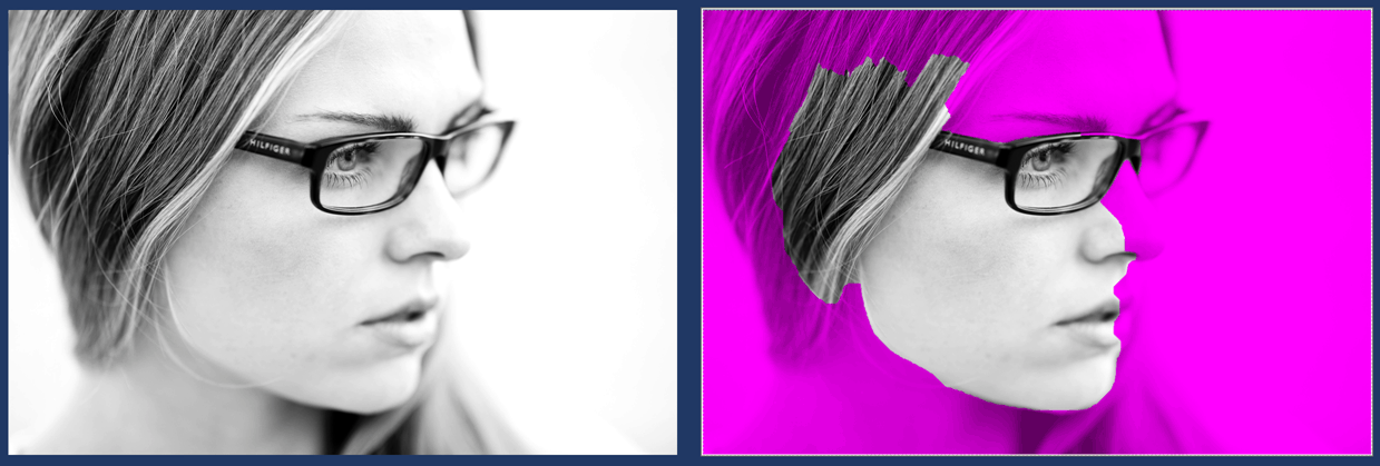 The remove background command doesn't work when the pieces of your image are too similar