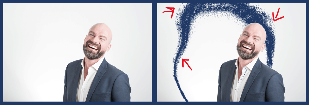 Removing a white background doesn't work if your image background color is a gradient