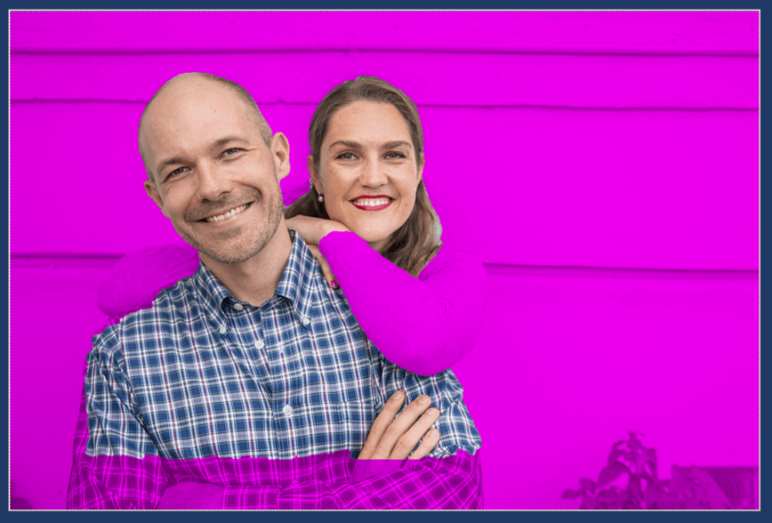 When removing a background in PowerPoint, whatever is colored magenta is what will be removed from your picture.