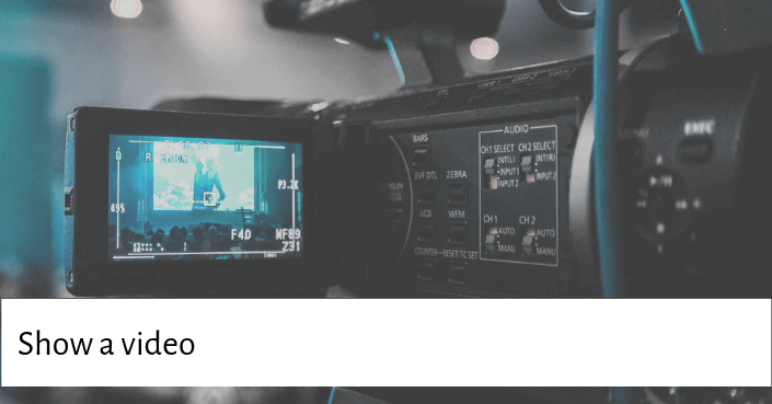PIcture of a video recorder for starting your presentation with a video