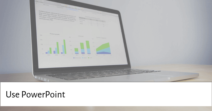 Picture of a PowerPoint slide for begin with a clever usage of PowerPoint