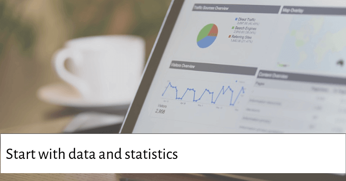 Picture of graphs and charts for start your presentation with hard data and statistics that will interest your audience