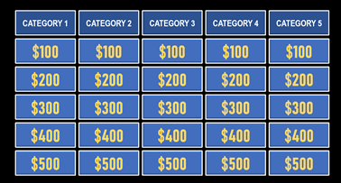 Create Jeopardy PowerPoint Game with ScoreBoard & Points
