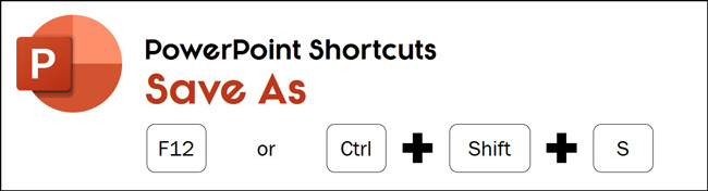 Hit F12 or control plus shift plus S to open the Save As dialog box in PowerPoint