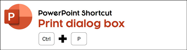 The Print shortcut in PowerPoint is control plus P