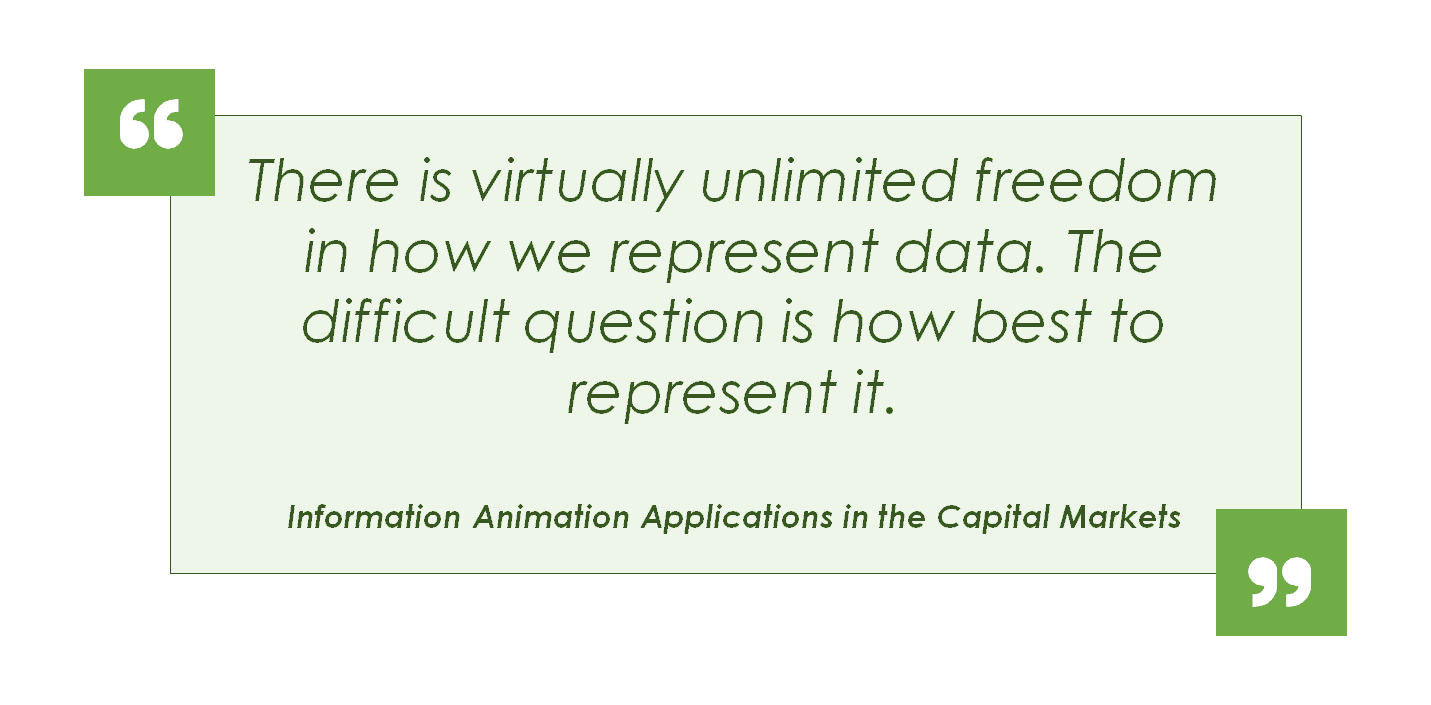 Picture of a quote, there is virtually unlimited freedom in how we represent data