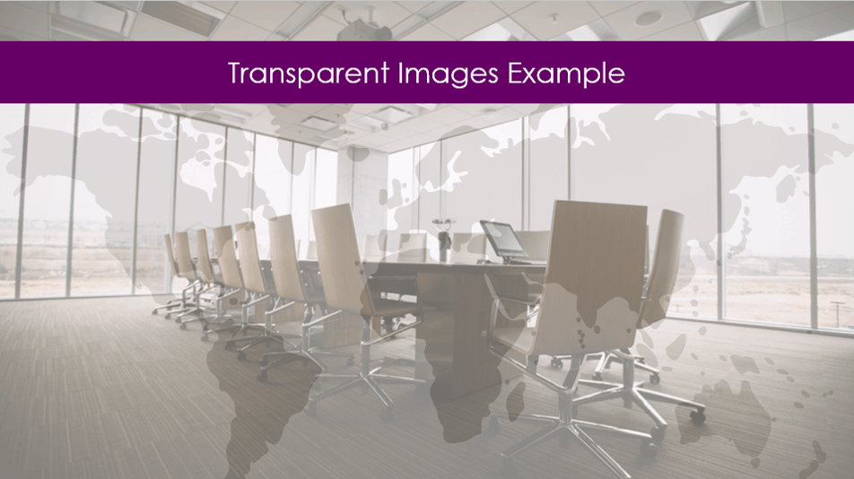 Example of two transparent images on top of each other to create a cool effect
