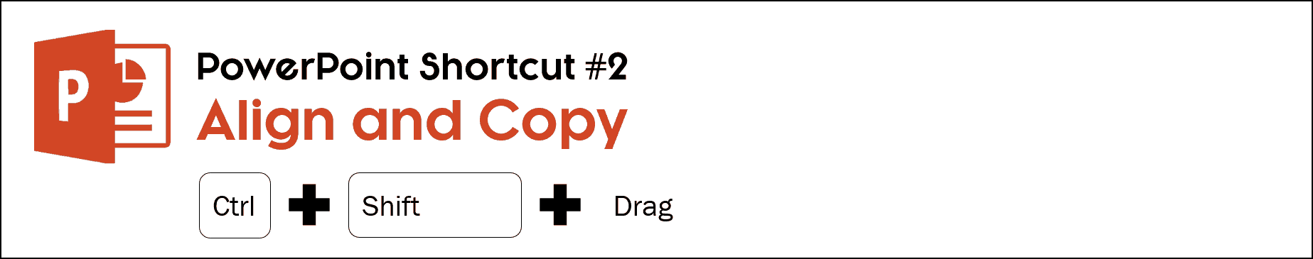 To create a perfectly aligned copy of an object in PowerPoint, select the object and holding the control plus shift key drag the object to a new place on your slide