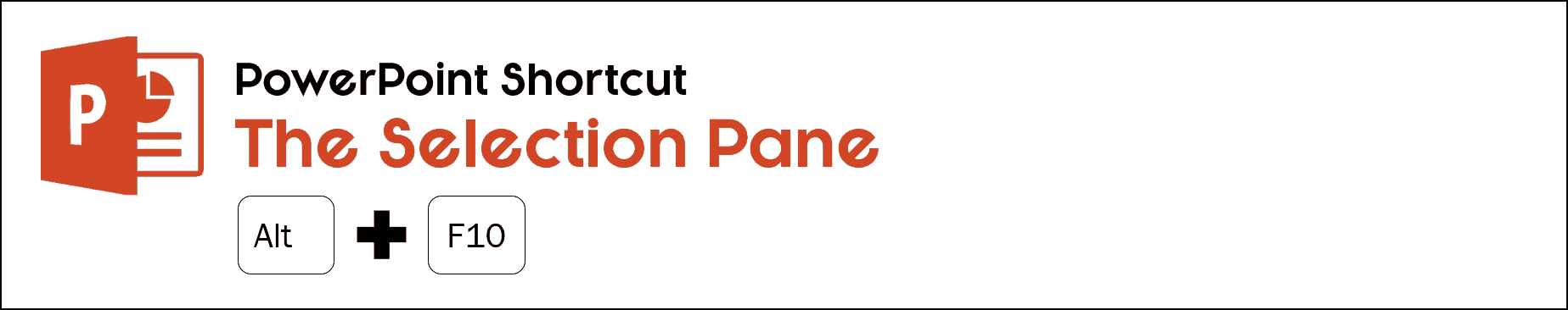 To open or close the selection pane in PowerPoint, hit Alt plus F10 on your keyboard