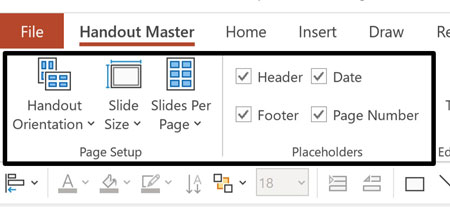 Handout Master commands to be aware of in your PowerPoint ribbon