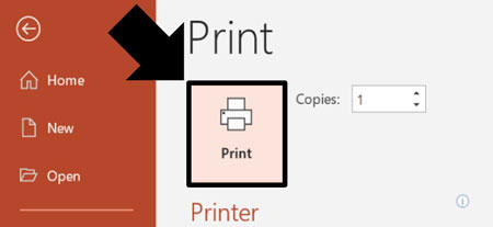 Click print to print your handouts with multiple slides per page