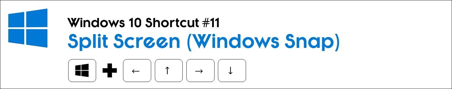 Hit the window key plus the arrow keys to snap your windows to the different sides of your screen