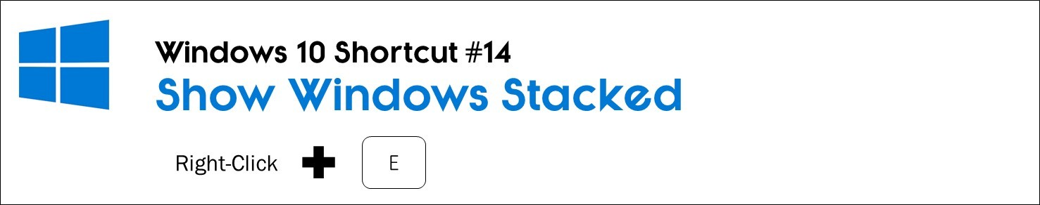 right click your task bar and hit E to stack all of your active windows