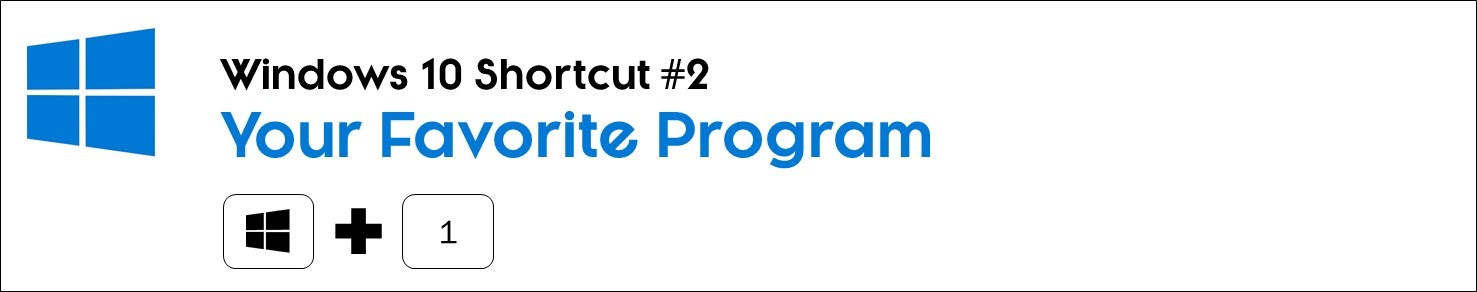 Shortcut your favorite program with the windows key plus the number one