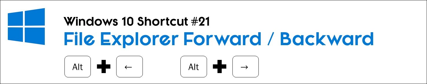 Hit the alt key plus the left or right arrow key to move forwards or backwards in the file explorer window