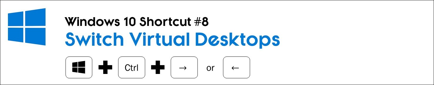 Hit the windows key plus control plus the left or right arrow to switch virtual desktops