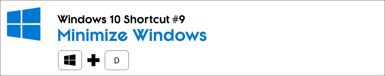 Hit the windows key plus D to minimize all windows on your computer