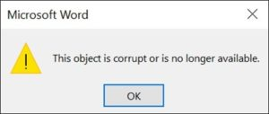 Microsoft Word warning if your presentation has been moved or renamed on your computer